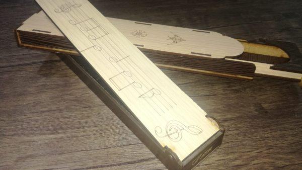 جعبه چوبی نی جفتی