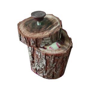 قندان چوبی روستیک